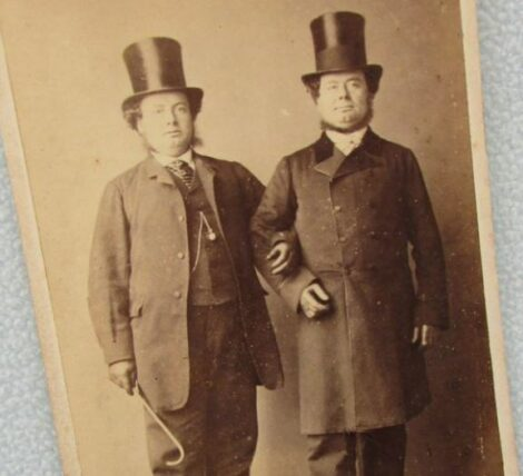 Men In Top Hats Linking Arms
